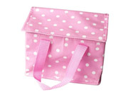 Pink Dots Lunch Bag