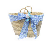 Blue Beach Basket with Matching Initial