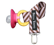 BT Zebra Pink Choco Soother Clip