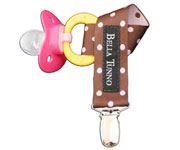 BT Cocoa Dots Soother Clip