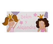 Twin Princesses Names Board C11.2