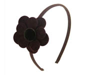 Chocolate Flower Hairband Doo1