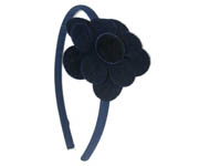 Navy Flower Hairband Doo4