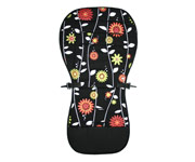 Red Flowers Stroller Seat Cushion
