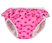 Pink with Red Polka Dot Swim Nappy
