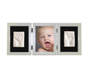 Photo and Footprint Triple Frame White