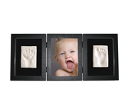 Photo and Footprint Triple Frame Black
