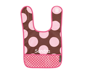 Cocoa Dots B12 Personalised Bib
