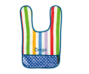 Rainbow B14 Personalised Bib