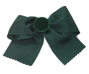 Green Bow Scrunchie L001