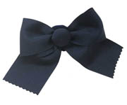 Navy Bow Scrunchie L004