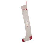 Grey Christmas Stocking