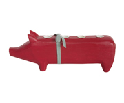Red Little Pig Candle Holder