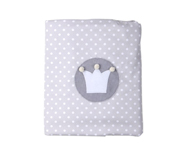 Grey Crown Personalisable Winter Blanket