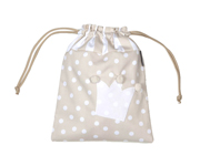 Beige Crown Personalisable Lunch Bag