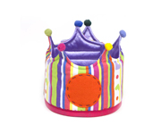 Large Stripes & Hearts Crown
