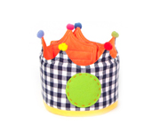 Large Blue Gingham Crown