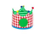 Small Red Gingham Crown