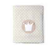 Beige Crown Personalisable Winter Blanket