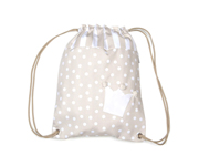 Beige Crown Personalisable Bag