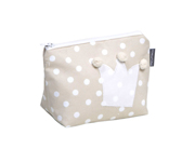 Beige Crown Toiletries Bag