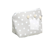 Grey Crown Toiletries Bag