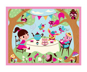 Puzzle Tea Party 12 pieces +2 Years