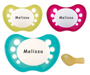 Chupetes Personalizados NIP Baby Pearly-Turquoise +0M