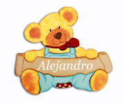 Martin Bear Name Board t003.2