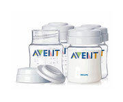 4 AVENT Storage Jars 125ml