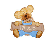 Ignacio Bear Name Board T003.5