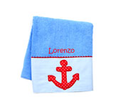 Personalised Anchor Towel