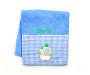 Blue Personalised Cupcake Towel