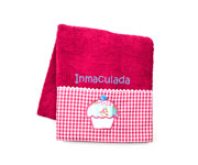 Fuchsia Personalised Cupcake Towel