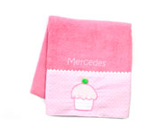 Pink Personalised Cupcake Towel