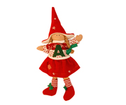 Christmas Doll with Initial N003.1