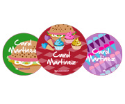 3 Pack Personalised Fast Food Badges