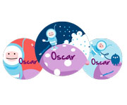 3 Pack Personalised Astronaut Badges
