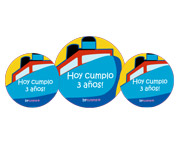 3 Pack Personalised Ship Badges