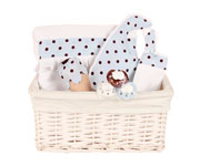 Blue New-Born Gift Basket
