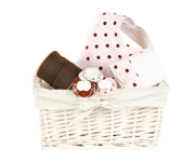 Small NewBorn Gift Basket (Pink or Blue)