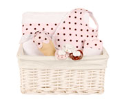 Pink New-Born Gift Basket