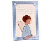 Blue Little Angel Name Board A002
