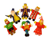 6 Finger Puppets Royalty