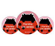 3 Pack Personalised Ladybird Badges