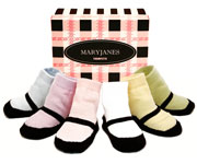 MaryJane Socks 0-24m