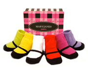 MaryJanes Bright Socks 0-12M