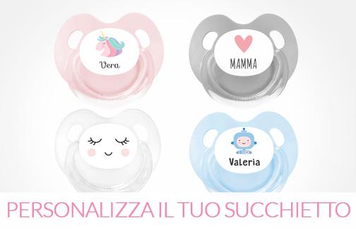 7e9c790699 Succhietti Personalizzati, Regali Bebè, Abbigliamento Neonati ...