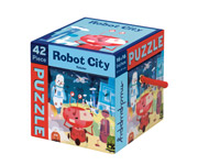 Puzzle Robot City 42 Pieces