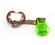 Personalised Monkey Soother Clip